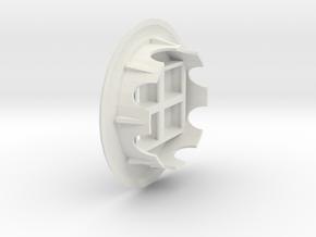 Quad Keystone Jacks In 60mm Desk Grommet in White Natural Versatile Plastic