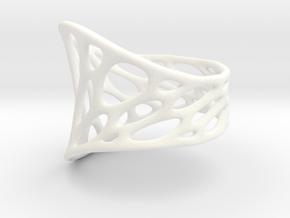 1-layer twist ring in White Processed Versatile Plastic: 5 / 49