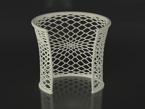 Woven Cuff - Large in White Natural Versatile Plastic