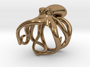Octopus Ring 19mm in Natural Brass