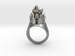 DW Cinderellas Castle Inspired Ring Size 10/U in Natural Silver