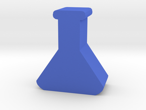 Lab Flask Token in Blue Processed Versatile Plastic