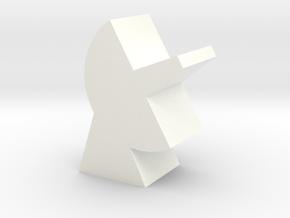 Game Piece, Dish in White Processed Versatile Plastic