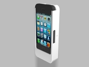 iPhone4/4s Camera Mount 2500mah Charger with USB O in White Natural Versatile Plastic
