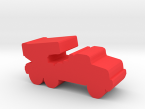 Game Piece Red Force Grad Artillery in Red Processed Versatile Plastic