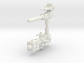 Legendary Tank Guns (5mm handles) in White Natural Versatile Plastic