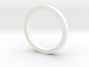 VSR/Bar-10 Cylinder Centering Ring in White Strong & Flexible Polished