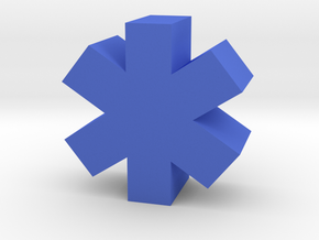 Game Piece, Medical Symbol in Blue Processed Versatile Plastic