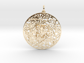 Zendala pendant in 14K Yellow Gold