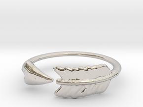 Arrow Ring in Rhodium Plated Brass: 3 / 44