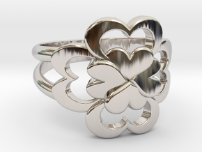 Size 8 Wife Ring  in Rhodium Plated Brass