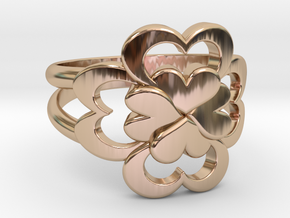 Size 8 Wife Ring  in 14k Rose Gold Plated Brass