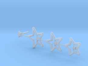 Star Earing in Smooth Fine Detail Plastic