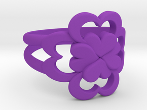 Size 6 Wife Ring  in Purple Processed Versatile Plastic