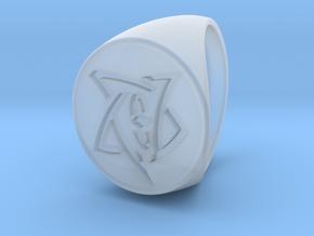 Elder Sign Signet Ring Size 11 in Smooth Fine Detail Plastic
