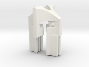 Punisher Spartan Mini II in White Natural Versatile Plastic