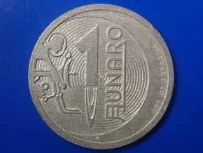 1 Lunaro Sterling 2013, age of aquarius, coin. in Natural Silver