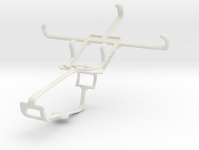 Controller mount for Xbox One & Celkon Campus Whiz in White Natural Versatile Plastic