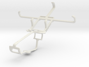 Controller mount for Xbox One & Celkon Win 400 in White Natural Versatile Plastic