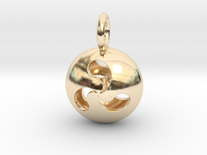 Tri Drop Pendant in 14k Gold Plated Brass