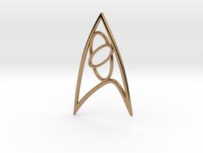 Star Trek - Starfleet Science Sign in Polished Brass