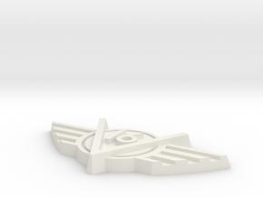 V16-V0003 3IN in White Natural Versatile Plastic