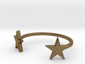 DoubleStar Bracelet in Natural Bronze