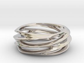 Triple Swirl Size 6 US in Platinum