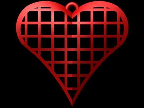 Heart Cage 2 in Red Processed Versatile Plastic