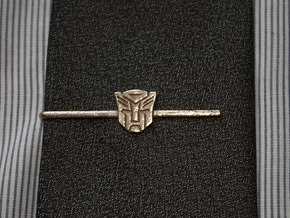 Transformers: Autobots Tie Clip in Polished Bronzed Silver Steel