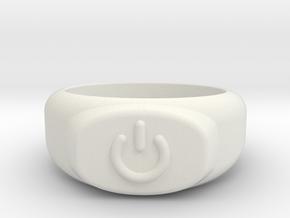 Power Ring  in White Natural Versatile Plastic