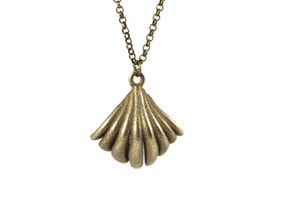 VIEIRA PENDANT in Polished Bronzed Silver Steel