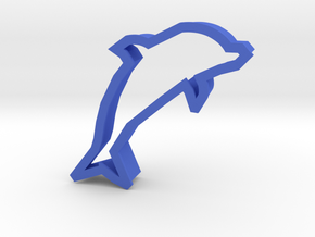 Dolphin Cookie Cutter (Dolphin Day 04/14/15) in Blue Processed Versatile Plastic
