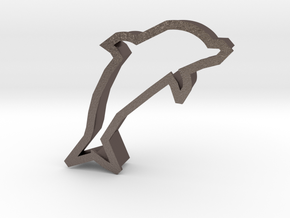 Dolphin Cookie Cutter (Dolphin Day 04/14/15) in Polished Bronzed Silver Steel