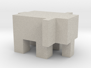 Cubic Elephant in Natural Sandstone