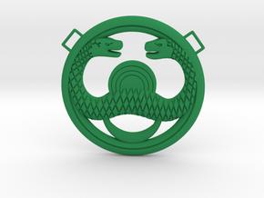 Conan Snake Amulet in Green Processed Versatile Plastic