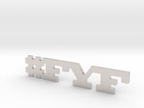 #FYF in Rhodium Plated Brass