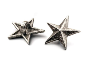 Shoelace Stars in Polished Bronzed Silver Steel