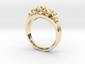 Lots of Cubes Ring in 14k Gold Plated Brass