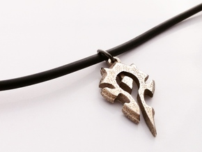 Horde Pendant - World Of Warcraft Necklace in Polished Bronzed Silver Steel