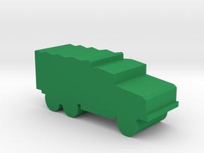 Game Piece, WW2 Cargo Truck in Green Processed Versatile Plastic