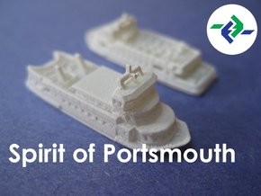Gosport Ferries (1:1200) in Smooth Fine Detail Plastic
