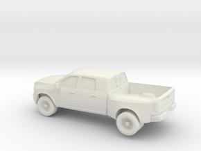 1/64 2010 Dodge Ram 3500 Dually in White Natural Versatile Plastic