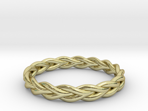Ring of braided rope - size 9 in 18k Gold Plated