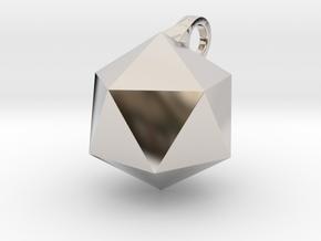 Icosahedron - Pendant in Platinum