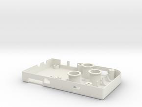 Raspberry Pi PiGRRL - DIY Game Boy - Bottom in White Natural Versatile Plastic