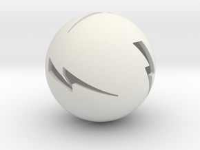 Lightning Ball! in White Natural Versatile Plastic