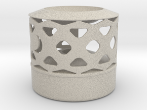 Oil Lamp - Wax Melter in Natural Sandstone