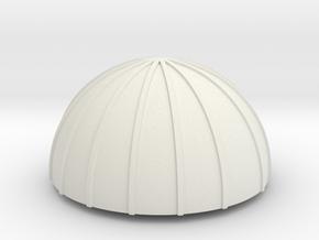 PVC Endcap - Silo 2 in White Natural Versatile Plastic