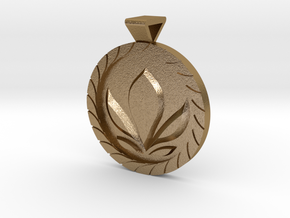 Anna Coronation Pendant in Polished Gold Steel